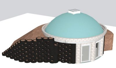 Circular Studio Earthship Tiny Home