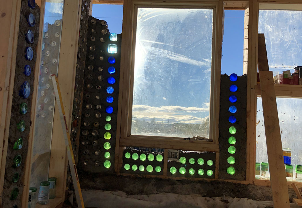 earthship greenhouse greywater planter