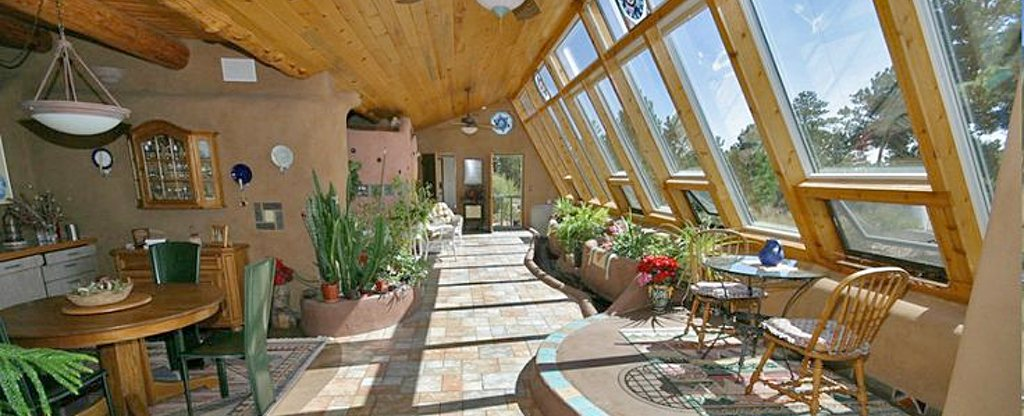 interior custom earthship