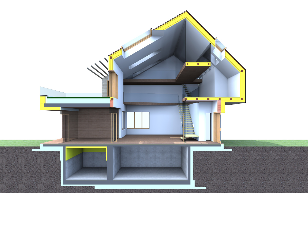 Passive House Section